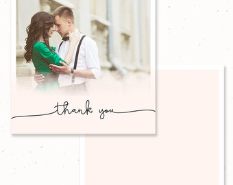 Photographer Thank You Note Cards, Thank you Photographer Notecards, Note Card Template for Photographers, Thank You Flat Notecard, m209nc