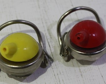 Pair of vintage mechanical bottle stoppers. Breweriana -Free Shipping