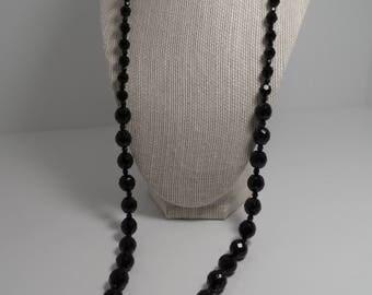Vintage Jet Crystal Necklace