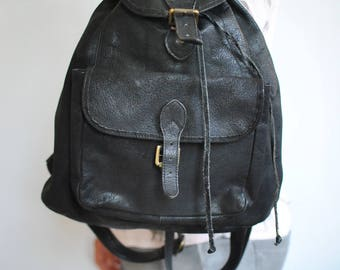 Vintage LEATHER BACKPACK , women's leather backpack ..............(471)