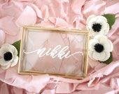 Personalized Jewelry Box Jewelry Box with Name Trinket Box Bridesmaid Gift / Personalized Gift / Maid of Honor / jewelry storage/ Birthday