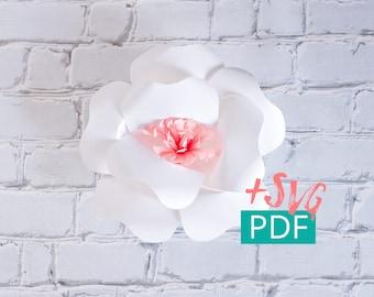 Paper Flower Template SVG PDF, Cricut, Silhouette, DIY Flower, diy Decor, Large Paper Flower Backdrop, Nursery Decor, Wedding Decor