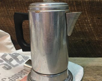 Vintage Empire Aluminum Electric Coffee Pot/Percolator/Drip Coffee Maker/Made in USA