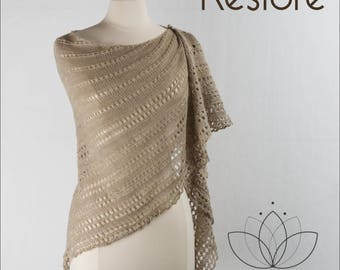 Restore Shawl Yarn Kit in your choice of color - Just Breathe