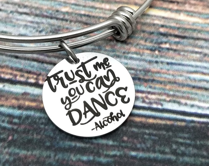Trust me you can dance Customizable Expandable Bangle Charm Bracelet, choose your charms, create your style, design your bracelet,