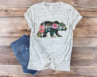 Mama Bear Shirt/ Pregnancy Announcement Shirt/ Maternity Shirt/ Mom Life Shirt/ Raising My Tribe Shirt/ Boho Shirt/ Momma Bear Shirt/ Custom