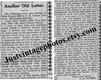 Civil War Letter June 1864