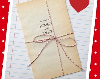 Vintage Romeo and Juliet Book Pages