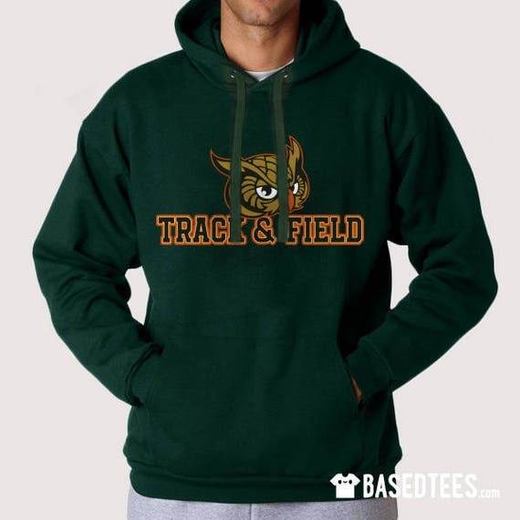 OWLS Track & Field hoodie and t-shirt