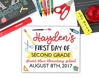 Instant Download | First Day of School Sign | Editable First Day of School | Back to School Sign | Back to School