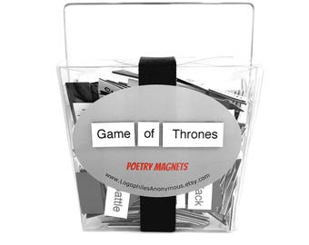 Game of Thrones Poetry Magnet Set - GoT Refrigerator Poetry Word Magnets - Free Gift Wrap