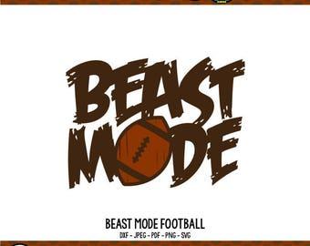 Football SVG Beast Mode SVG Football Mom Shirts Football Shirts svg Cricut Files Silhouette Files Digital Files Beast Mode Shirt Beast svg