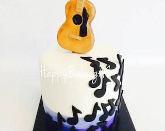 Fondant Guitar Cake Topper