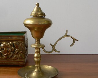 Brass oil lamp | Etsy