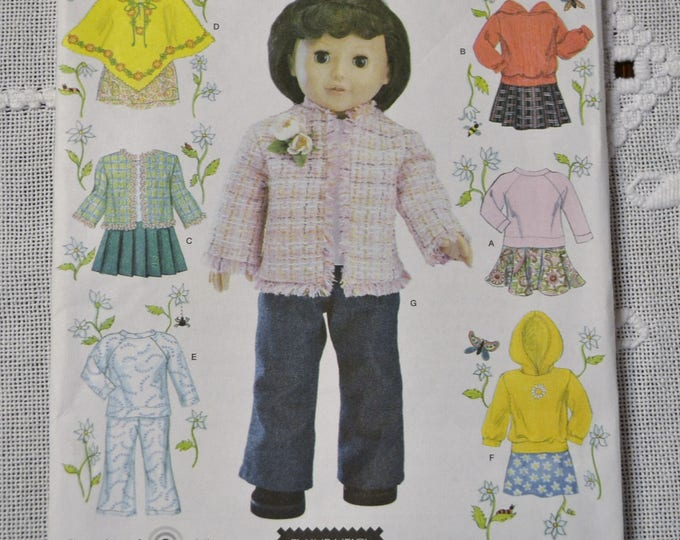 Vintage Simplicity 4297 Doll Pattern 18 inch Doll Wardrobe Clothing One Size  Sewing Pattern DIY Fashion Sewing Crafts PanchosPorch