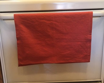 Linen Kitchen Towel - Linen Tea Towel - Orange Kitchen Towel - Orange Tea Towel - Orange Table Runner - Fall Kitchen Towel - Fall Tea Towel