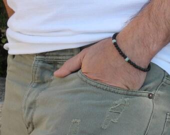 Mens beaded bracelet, for men, lava stone bracelet, black bracelet men, Lava bead bracelet, beaded yoga bracelet mens protection bracelet