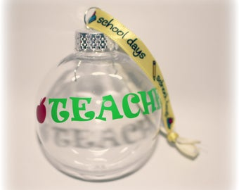 Teacher Gift, Teacher, Teacher Ornament, Teacher Appreciation, Teacher Christmas, Elementary School, Kindergarten Gift, Teacher Graduation,