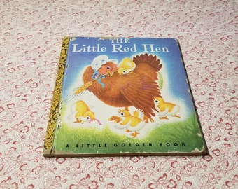 The Little Red Hen A Little Golden Book, Copyright 1942 presented by Donellensvintage