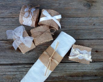 Rustic Napkin ring (Ideal for Silverware and Napkins) Wedding Napkins, Rustic Wedding Decoration, Wedding Ceremony, wedding table decoration