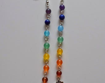 Ananda Seven Chakras Lotus dangle earrings
