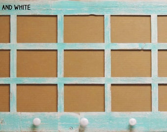 Multi Picture Frame 15 opening --- 5 X 7 window pane frame with knobs