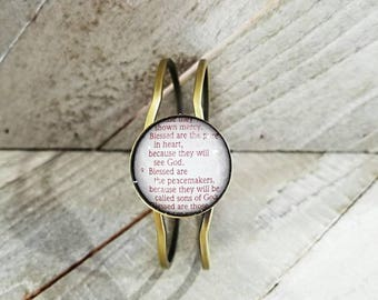 Matthew 5:8/Vintage Bracelet Pendant/Gift for Her/Gift for mom/Gift for Wife/Christian Jewelry/Vintage Jewelry/Custom Jewelry