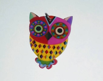 X 1 acrylic colorful OWL