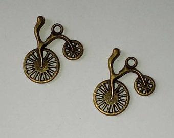 X 2 antique bicycle bronze
