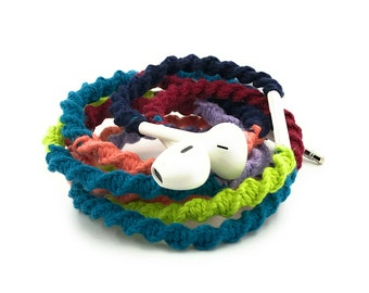 Wrapped Headphones for iPhone, Handmade iPhone Headphones, Design Earbuds, Custom Headphones, iPhone EarPods Tangle Free Earbuds in PAISLEY