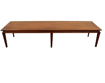 Mid-Century Danish Modern Elongated Walnut Coffee Table #3