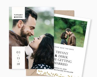 Save the Date Template for Photographers, Diy Save the Date Template, Printable Save the Date, Modern Save the Date Card, Photoshop Template
