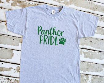 Youth Panther Pride Shirt - School Spirit - Panthers - Heather Gray Youth T-Shirt
