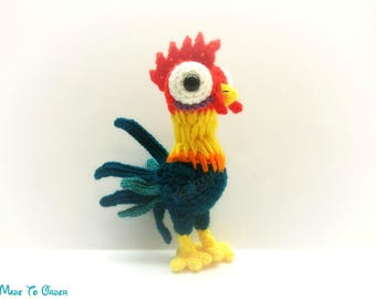 Crochet HeiHei / Rooster Plush (Inspired by Disney's Moana)