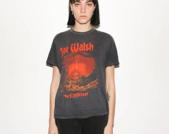 1985 Joe Walsh The Confessor 80s Tour Concert The Eagles T Shirt