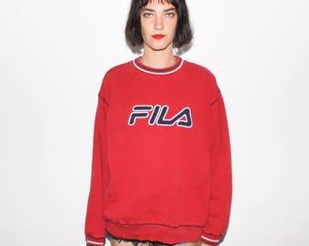 90s FILA Logo Spellout Sweatshirt