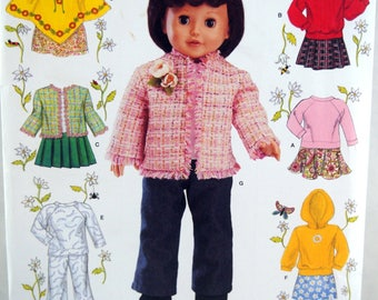 18 Inch Doll Clothing Simplicity 4297 Uncut Sewing Pattern 2006