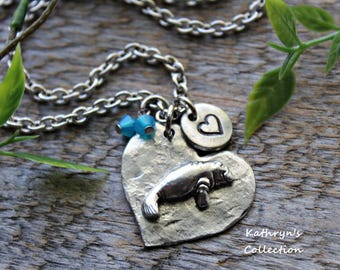 Manatee Necklace, Manatee Jewelry - read full listing details -