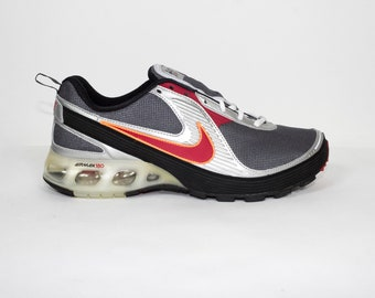 nike air max 180+ red black metallic silver - 315376-061 - deadstock - new - uk 10 - 45 eur - mens size 11