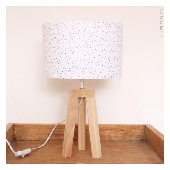 WHITE GOLD tripod lamp