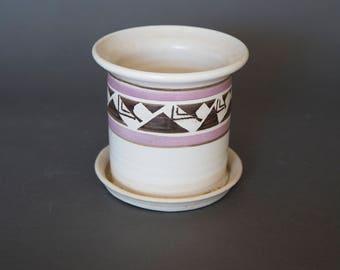 Vintage Mid Century 1970s Planter Pot