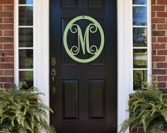 Letter Door Hanger, Front Door Wreath, Summer Wreath, Monogrammed Wreath, Large Monogram Letters, Initial Door Wreath OVLVN225