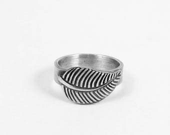 Sterling Silver Ring, Silver Leaf Ring, Minimalist Ring, Silver Band, Statement Ring, Silver Ring, Nature Inspired Ring, Leaf Ring