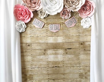 Paper Flower Backdrops - Wedding Backdrop - Bridal Shower Backdrop - Baby Shower Backdrop - Quinceanera Backdrop - Photo Backdrop