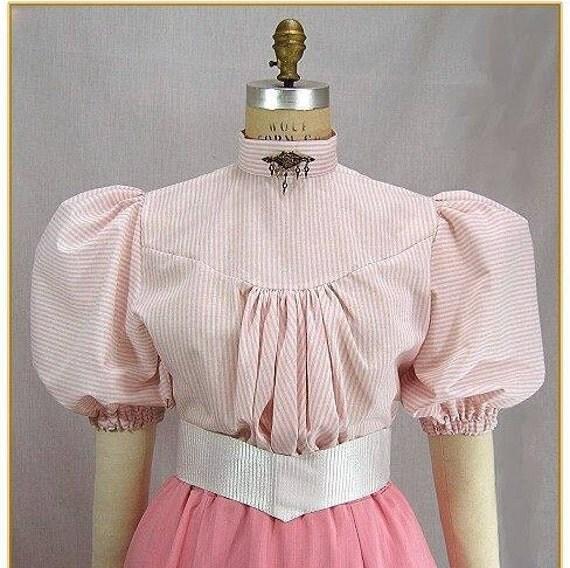 Victorian Blouses, Tops, Shirts, Vests Victorian Stripe BlouseVictorian Stripe Blouse $49.00 AT vintagedancer.com