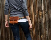 The Bogotá - Hip Bag and Pouch Purse in the Legendary Horween Cavalier Leather in Aged Whiskey