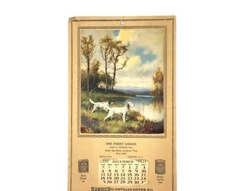 Antique Sunoco Calendar Print 1927 Pine Street Garage Calendar Print Lockport New York Service Station Calendar Print Chas D Hosfeld
