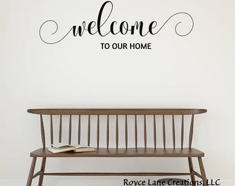 Vinyl Welcome Decal- Welcome to Our Home 100- Welcome Wall Decal