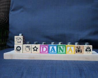 Children's Personalized Wooden Alphabet Blocks Menorah!/ Personalized menorah/hanukiah for Hanukkah