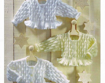 PDF - Baby and Small Child Jacket - Sirdar Snuggly Double Knitting 3950 - Vintage Knitting Pattern